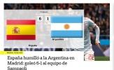 Báo chí xứ tango xấu hổ vì thảm bại của ĐT Argentina