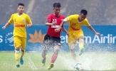 Văn Kiên tỏa sáng, U21 SLNA thắng Long An trong trận cầu 6 bàn thắng