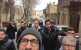 Ăn mặc bảnh bao, các nhà vô địch thế giới tham quan thành phố Baku