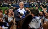 Chùm ảnh: Vô địch La Liga sau 5 năm, Real Madrid 'quẩy tưng bừng' tại Rosaleda