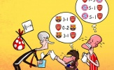 Biếm họa: Barca và Bayern thương nhớ Arsenal