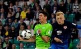 Lượt đi play-off trụ hạng Bundesliga: Mario Gomez giúp Wolfsburg đánh bại Braunschweig