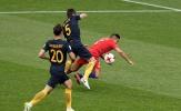 Chùm ảnh: Sanchez 'ăn vạ' không thành, Chile vất vả cầm hòa Australia