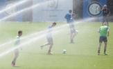 Inter dùng cả hệ thống tưới sân để giải nhiệt cho cầu thủ
