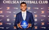 Alvaro Morata rạng rỡ cầm áo đấu Chelsea
