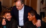 Chủ tịch Perez tay bắt mặt mừng với dàn sao Real