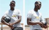 'Người mẫu' Pogba chăm chỉ tạo dáng trên sân tập của Man Utd