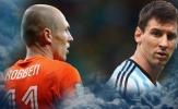 5 ông lớn có nguy cơ vắng mặt tại World Cup 2018: Khi Messi, Robben bất lực