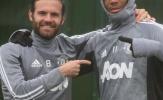 Martial cười lạnh trong buổi tập của Man Utd