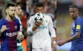 Đề cử FIFA The Best 2017: Neymar, Messi đấu Ronaldo