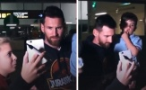 Con trai Messi 'đốn tim' fan hâm mộ tại sân bay