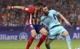 Atletico 1-1 Barca: Messi 'tắt điện' trước Los Rojiblancos