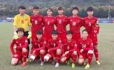 """Nữ U19  Việt Nam tiếp tục """"thảm bại"""" trước nữ U19 Hàn Quốc"""