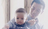 Con trai Văn Quyết khóc nức nở, đòi theo bố lên tập trung đội tuyển