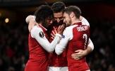 Thua Man Utd, Arsenal trút giận lên BATE Borisov với một 'set tennis'