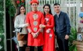 Quế Ngọc Hải và bạn gái hot girl 'đỏ rực' trong lễ ăn hỏi