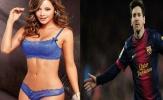 Messi rực sáng, nữ phóng viên lại lột đồ