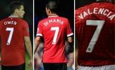 Chiếc áo số 7 quá rộng của Manchester United