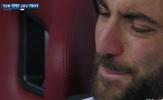Sợ lỡ đại chiến Tottenham, Higuain khóc mếu