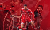 Lewandowski cán mốc khủng cùng Bayern