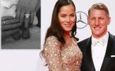 Schweinsteiger và vợ Ivanovic khoe con đầu lòng