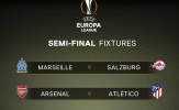 Bốc thăm bán kết Europa League: Arsenal đụng Atletico Madrid