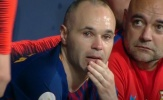 Andres Iniesta bật khóc trong trận chung kết cuối cùng với Barca