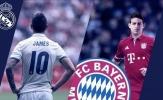 James Rodriguez và những cầu thủ từng khoác áo cả Bayern và Real