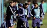Mặc bão tố, tuyển Argentina vẫn tập luyện cật lực