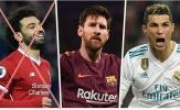 ĐHTB châu Âu mùa 2017/18: Salah bị loại; Messi sát cánh cùng Ronaldo