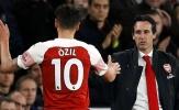 Bị Emery 'lưu đày' trên ghế dự bị, Ozil nói 1 điều khi Arsenal thua trận
