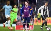 Xếp hạng 10 ngôi sao tấn công hiệu quả nhất châu Âu: 'Chú Tư' Ronaldo