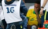 Gặp chấn thương, Neymar khóc nức nở ngay trên sân
