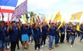 Chưa đấu Ấn Độ, CĐV Thái Lan đã 'nhuộm xanh' Buriram