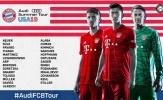 NÓNG: Bayern công bố đội hình du đấu hè, đầy đủ hảo thủ góp mặt
