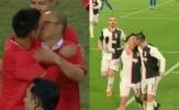 Ronaldo gặp 'tai nạn' đỏ mặt với Dybala, giống thầy Park và Văn Quyết