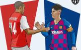 Đạt cột mốc 'thế kỷ', Messi bước vào ngôi đền huyền thoại cùng Henry