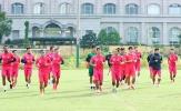 Đội đầu bảng V-League 2020 miệt mài tập luyện chờ ngày giải đấu trở lại