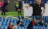 CHOÁNG! Nhận thẻ đỏ, huyền thoại Inter vẫn trực tiếp chỉ đạo các học trò