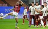 Lập cú đúp và mắc sai lầm, Ibrahimovic khiến Milan ngắt mạch trận toàn thắng