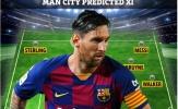 5 sơ đồ mà Pep Guardiola sử dụng nếu Messi đến vào tháng Giêng
