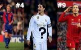 Top 10 ngôi sao mang áo số 4 xuất sắc nhất lịch sử