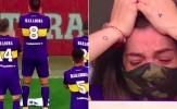 Con gái cưng của Maradona bật khóc nức nở trên khán đài Boca Juniors