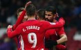 Costa và Torres tịt ngòi, Atletico vẫn thắng dễ nhược tiểu