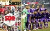 Real Madrid thống trị danh sách 500 cầu thủ nổi bật nhất