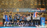 Bế mạc AFC Futsal Club 2017: Bluewave Chonburi lên ngôi vô địch, Thái Sơn Nam đứng vị trí thứ 3