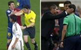 Messi và Simeone cũng từng đẩy trọng tài như Ronaldo