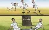 Biếm họa Ronaldo, Benzema no lặc lè sau khi đánh chén APOEL