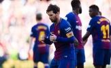 Messi ghi bàn trận thứ 6 liên tiếp cho Barca