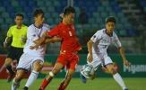 Chủ nhà U18 Myanmar chiếm vị trí thứ 2 bảng B của Indonesia